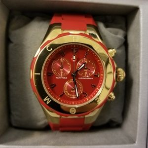 Michele Tahitian Jelly Bean Watch in Red